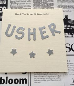 USHER Thank You Card Available Online To Buy From Ditty Dotty Handmade Wedding Stationery Designs For A Great Deal On USHER Thank You Card Or Any Other Unique Handmade Craft Gifts And Creative Gift Ideas Visit Stallandcraftcollective.co.uk #81