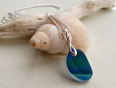 Rare Blue End Of Day Seaglass Multi Sterling Silver by SeahamWaves, £28.00