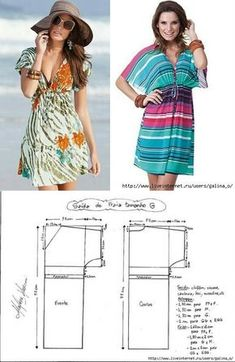 La Clase maestra: ¡como coser en un dos por tres supermodnyy keyp-transformer … A todas las amigas a la envidia! Dress Sewing Patterns, Sewing Patterns Free, Clothing Patterns, Sewing Clothes, Diy Clothes, Dress Up Wardrobe, Beach Tunic, Tunic Pattern, Dress Tutorials