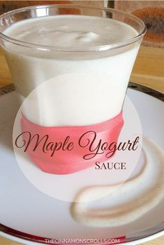The Greek yogurt base of this sauce gives it a high protein count while keeping things light. It makes an excellent alternative to any high-sugar content toppings you may want to add to your breakfast or dessert, and it tastes like cream cheese maple syrup... | thecinnamonscrolls.com @cinnamonscribe