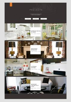 Web site design for Hip + Gable Interior Design Firm