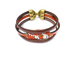 Indian Style Leather Bracelet // Kashmir Collection by ScrapCati, €15.00
