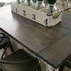 DIY Industrial Farmhouse Table.