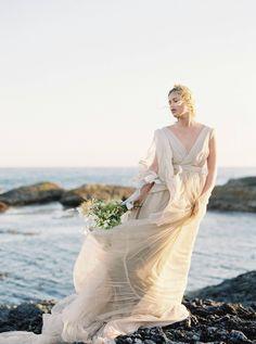 Windswept & romantic coastal bridal Inspiration in British Columbia | British Columbia Wedding Inspiration Coastal Wedding Inspiration, Wedding Shoot, Wedding Dresses, Song Of The Sea, British Columbia, Romantic, Gowns, Bridal, Photography