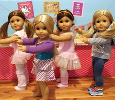 American Girl Doll Play: Doll Crafting : Creating a Dance Studio w/Barre. Who wants to help?? Lol