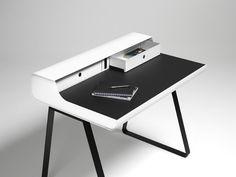 Bureau PS10 Blanc et noir Meuble design Müller