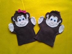 Monkey girl and boy Puppets by puppetmaker on Etsy, $9.99