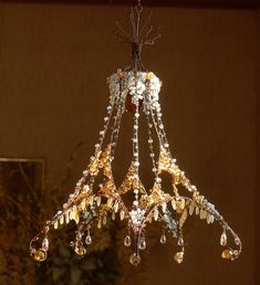 A Crystallized Sunshower Chandelier от BellStudios на Etsy