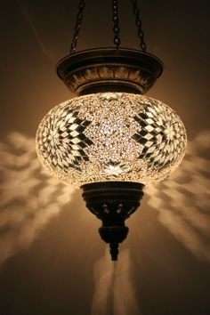 EXTRA LARGE TURKISH MOROCCAN MOSAIC HANGING LAMP SHADE PENDANT LANTERN LIGHT