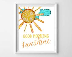 Good Morning Sunshine Printable from paper and palette