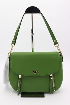 NWT MICHAEL Michael Kors Evie Green Leather Medium Shoulder Crossbody Bag  Purse  MichaelKors  ShoulderBag 0c08e09dd0