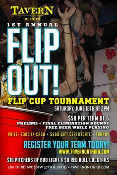 1st Annual Tavern On Third FLIP OUT Flip Cup Tournament