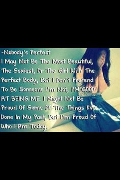 Not perfect quote