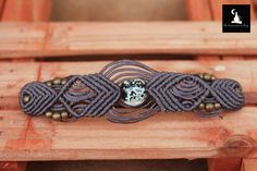 Check out this item in my Etsy shop https://www.etsy.com/listing/220663592/macrame-bracelet-with-bead-that-glow-in
