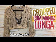 Cropped de croche Parte 2 / Crochet Shrug /Crochet croptop - YouTube