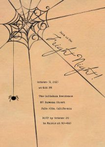 Mixbook Spiders Web Halloween Cards and Invitations