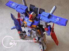 MODELER:  codychanz  MODEL TITLE: N/A  MODIFICATION TYPE: painted build, customized detailing  KITS USED: VP 1/100 ZZ Gundam