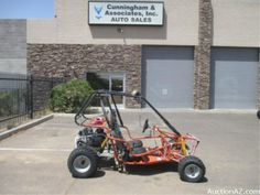 Baja Motorsports Dune Go-Kart.  Great for camping, exploring, and creating new adventures with friends and family! #auctionaz