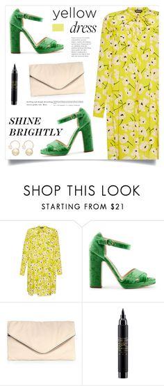 """Shine Brightly"" by marina-volaric ❤ liked on Polyvore featuring Giamba, Rupert Sanderson, MR., MAC Cosmetics, Witchery and yellowdress"
