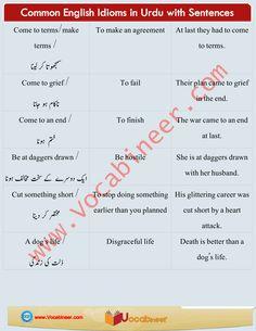 Learn English vocabulary in Urdu. English through Urdu made easy. Easiest way to learn English vocabulary in Urdu. English to Urdu Vocabulary. Common English Idioms, English Speaking Skills, English Sentences, English Vocabulary Words, Improve Your English, Learn English, Square Deal, Past Papers, Your Teacher