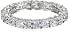 Platinum Plated Sterling Silver Round Cubic Zirconia - Size 7  (Any rings, stackable, etc.)