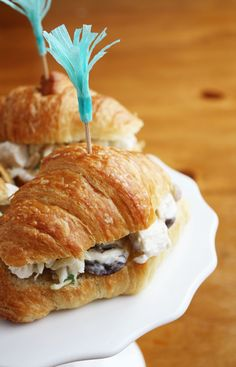 Delicious chicken salad croissant sandwiches!