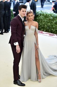Shawn Mendes and Hailey Baldwin in Tommy Hilfiger Met Gala 2018
