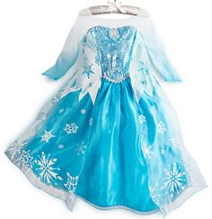Disney Store Frozen Elsa Costume Dress Size 4 5 6 7 8 10 Ready To Ship #Disney #Dress