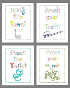 Art For Bathroom Set Of Four 8x10 Prints Great Boy Or