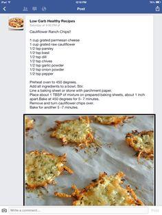Cauliflower Ranch Chips