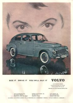 1959 Volvo car print ad See It Drive It You Will Buy by Vividiom, $5.00