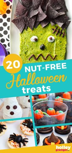 These 20 nut-free Halloween treats deliver zero nuts and plenty of fun making them perfect for nut-free lunchboxes and classroom parties. Halloween Costumes To Make, Halloween Food For Party, Baby Halloween, Halloween Treats, Healthy Halloween, Halloween 2020, Super Healthy Kids, Healthy Meals For Kids, Kids Meals