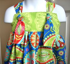 Girls dresses knot dresses childrens clothes by BackPorchKids, $35.00