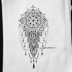 ornamental tatuagem feminina mandala tattoo