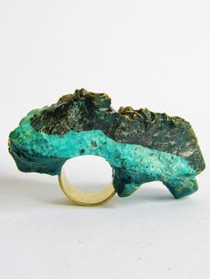 Island Strata Double Ring | Jade Mellor | Shop | NOT JUST A LABEL: Resin, Granite, Bronze