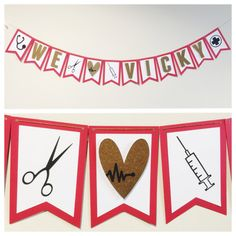 Graduation party banner for nursing grad or med school grad