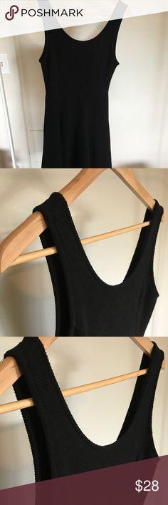 Black skater dress Lush woven black skater dress EUC only worn twice Lush Dresses Midi