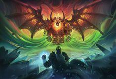 World of Warcraft WoW Sargeras Leinwandbild AK ART Kunstdruck Wandbild Wanddeko