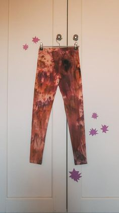 Gorgeous hand ice dyed leggings, in a rich burgundy, pink, purple, earthy tones.Thick super soft leggings, 93% cotton & 7% elastane.Small (6-8) - waist 26-27 inch & hip 36-37 inch.A uniqlo garment was used as the base for this piece.Perfect lounge-wear, pyjamas or yoga leggings. Casual and cool.Wash leggings in cold water & preferably with a colour catcher if washing by machine. Leggings are colour fast, yet best to be on the safe side. Cotton Leggings, Yoga Leggings, Purple Leggings, Ice Dyeing, Uniqlo, Pyjamas, Pink Purple, Lounge Wear, Tie Dye