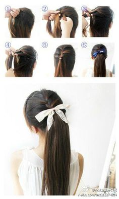 #Easy and #Pretty #Ponytail   #Tutorial #hairstyle