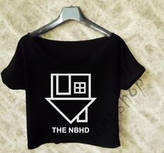 The Neighbourhood Crop Tee shirt Women color black and White TO97 on Etsy, $15.99 I LOVE CROP TOPS