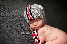 OHIO STATE Buckeyes Helmet Hat   Size 03 by HotOffTheHookCrochet, $28.00