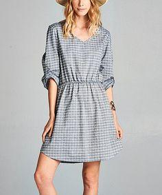 Love this Denim Blouson Dress - Women on #zulily! #zulilyfinds