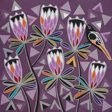 Image result for helen ansell Contemporary Decorative Art, Naive Art, Pet Birds, Flower Art, Folk Art, Nativity, Objects, Artists, Flowers