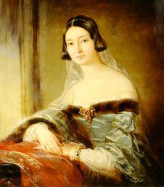 Maria Sergeyevna Buturlina (1815—1902), née Gagarin, by Christina Robertson, 1841 (Regional Art Museum,  Voronezh, Russia)