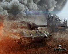 World of Tanks Tank E-100 Fumée Jeux 3D_Graphiques