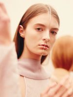 """Instagram Went Crazy Over This Bisected Face Jewelry #refinery29  http://www.refinery29.com/2015/09/93895/dion-lee-face-jewelry-fashion-week-spring-2016-runway-show#slide-9  """"We liked the idea that each models contour was unique, however there was also the strength of uniformity,"""" says Sarah & Sebastian's Sarah Gittoes...."""