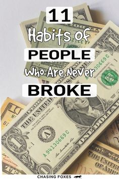 11 Habits Of People Who Always Have Money Money Tips, Saving Money, Success, Personalized Items, Future, Future Tense, Save My Money, Money Savers, Frugal