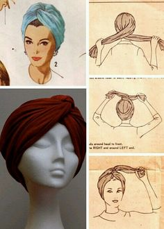 Hijab Tutorial Missoni doin the turban thing right now too like its new or something but ok. Not all Yall can pull this look off…. Hijab Tutorial Source : Missoni doin the turban thing. Turban Mode, Turban Hijab, Hair Turban, Turban Headbands, Tie A Turban, Turban Outfit, Bandana Outfit, How To Wear Hijab, Curly Hair Styles