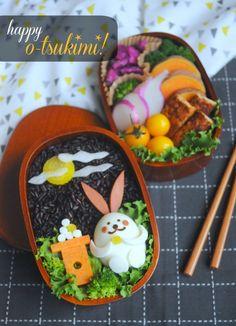 Autumnal Moon Viewing (o-tsukimi in Japanese) Kyaraben Bento Lunch
